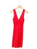 белизна изолированная платьем красная Стоковые Изображения