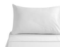 белизна изолированная постельными принадлежностями Стоковые Изображения RF