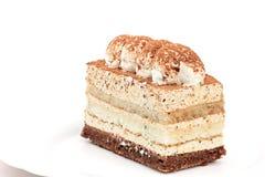 белизна изолированная тортом Стоковое Фото
