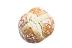 белизна изолированная хлебом большая круглая Стоковое фото RF