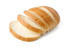 белизна изолированная хлебом Стоковое Фото