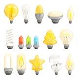 белизна изолированная шариками светлая Собрание изображений мультфильма вектора галоида современной энергии спасения лампы дневно бесплатная иллюстрация