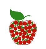 белизна изолированная яблоком Стоковые Фото