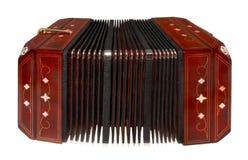 белизна изолированная bandoneon Стоковая Фотография