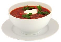белизна изолированная borscht Стоковое Изображение