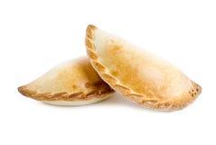 белизна изолированная empanada Стоковое Фото