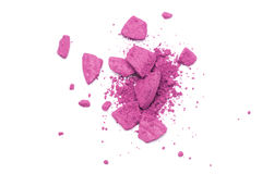 белизна изолированная eyeshadow розовая стоковые фото