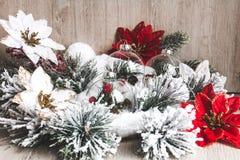 белизна изоляции декора рождества Новый Год рождества предпосылки стоковое фото