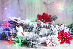 белизна изоляции декора рождества Новый Год рождества предпосылки стоковые изображения