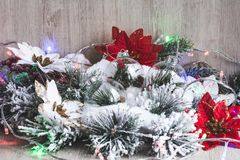 белизна изоляции декора рождества Новый Год рождества предпосылки стоковая фотография