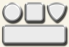 белизна иконы установленная Стоковое фото RF
