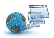 белизна интернета принципиальной схемы предпосылки Стоковое фото RF