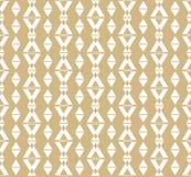 Белизна и картина вектора золота геометрическая безшовная, косоугольники, треугольники, линии иллюстрация вектора