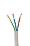 белизна кабеля предпосылки электрическая Стоковое Изображение