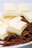 белизна какао шоколада Стоковая Фотография