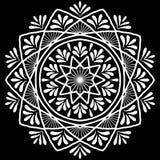 Белизна картины мандалы Стоковое Фото
