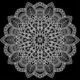 Белизна картины мандалы Стоковое Изображение