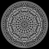 Белизна картины мандалы Стоковые Фотографии RF