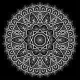 Белизна картины мандалы Стоковая Фотография RF