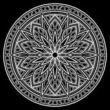 Белизна картины мандалы Стоковые Фото