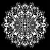 Белизна картины мандалы Стоковое фото RF