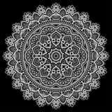Белизна картины мандалы Стоковые Изображения RF