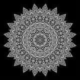 Белизна картины мандалы иллюстрация вектора