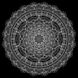 Белизна картины мандалы иллюстрация штока