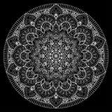 Белизна картины мандалы бесплатная иллюстрация
