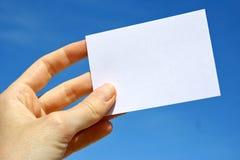 белизна карточки Стоковые Фотографии RF