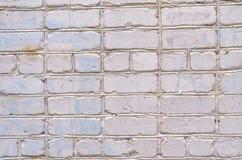 белизна кирпичной стены предпосылки Текстура каменной стены Кирпичная стена покрашенная в белом цвете Стоковое Изображение