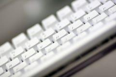 белизна клавиатуры компьютера Стоковое Изображение RF