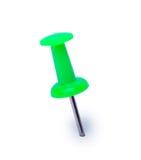 белизна кнопки изолированная зеленым цветом Стоковые Фото