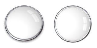 белизна кнопки 3d твердая Стоковое Изображение