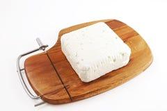 белизна козочки сыра блока Стоковая Фотография