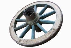 белизна колеса фуры предпосылки Стоковая Фотография