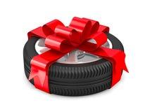 белизна колеса диска предпосылки Стоковая Фотография