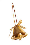 белизна колокола предпосылки золотистая изолированная Стоковые Изображения RF