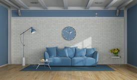 белизна комнаты сини живя самомоднейшая иллюстрация штока