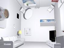 белизна комнаты иллюстрация вектора