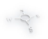 белизна компаса Стоковые Фото