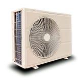 белизна компрессора воздуха изолированная справедливо опрокинутая Стоковые Фото