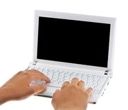 белизна компьтер-книжки компьютера малая Стоковые Изображения RF