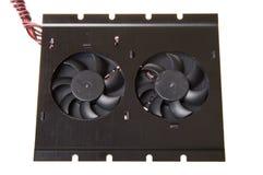белизна компьютера предпосылки изолированная вентилятором Стоковые Фотографии RF