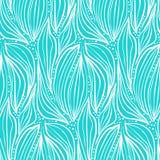 Белизна конспекта на картине листьев и падений сини Стоковая Фотография