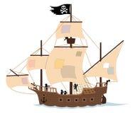 белизна корабля пирата иллюстрация штока