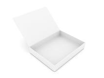 белизна коробки открытая Стоковое Изображение