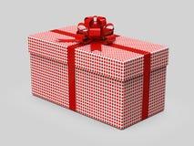 белизна коробки смычка предпосылки изолированная подарком Стильная оболочка иллюстрация 3d бесплатная иллюстрация