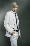 белизна костюма человека нося Стоковая Фотография RF
