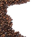 белизна кофе фасолей предпосылки Стоковое Изображение RF